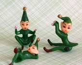 Green Pixie Cupcake Toppers (3)