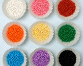 Assorted Sugar Pearl Sprinkles for Decorating Cupcakes and Cookies (9 ounces)