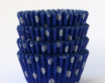 MINI Blue Polka Dot Cupcake Liners (60)