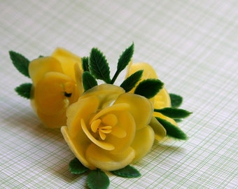 Yellow Rose Cupcake Toppers (12)