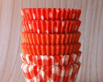 MINI Orange Mix Cupcake Liners Candy Cups (60)