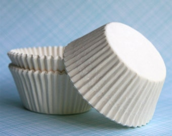 White Cupcake Liners (50) Classic White Baking Cups