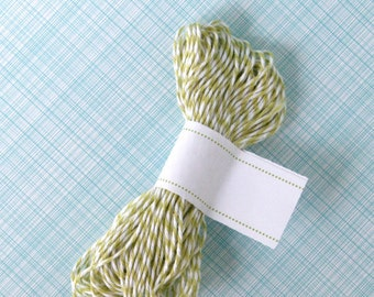 Honeydew Green Baker's Twine (15 yards) - Green and White Bakers Twine