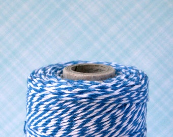 Denim Blue Baker's Twine (240 yards) - Blue and White Bakers Twine