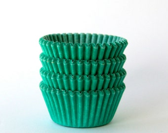 MINI Green Cupcake Liners (60)