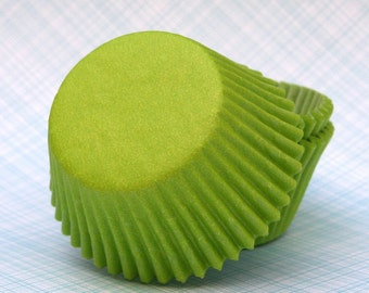 Lime Green Cupcake Liners, Lime Green Wedding Cupcake Liners, Lime Baking Cups (100)