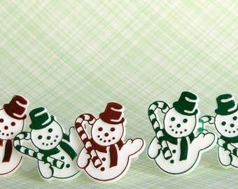 Snowman Ring Cupcake Toppers (12)