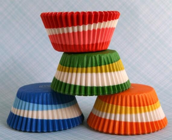 Assorted Retro Swirl Cupcake Liners (80)