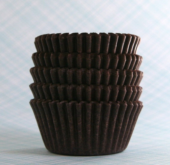 BULK MINI Brown Cupcake Liners Candy Cups (250)