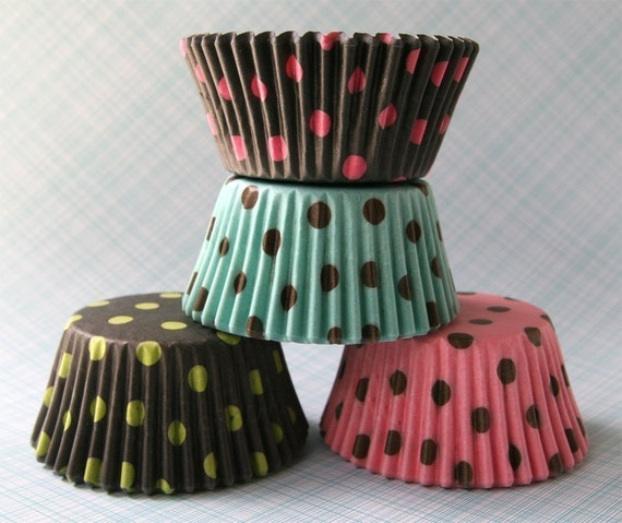 Big Polka Dot Cupcake Liners Mix (40)