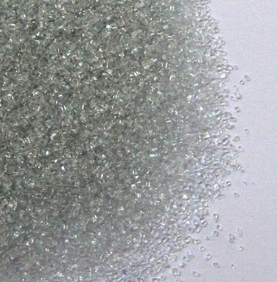 Silver Sanding Sugar, Silver Sugar Sprinkles, Silver Wedding Sprinkles, Cocktail Rimming Sugar (4 ounces)