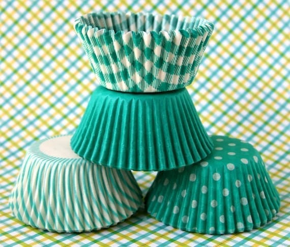 Green Mix Cupcake Liners - set 1 (60)