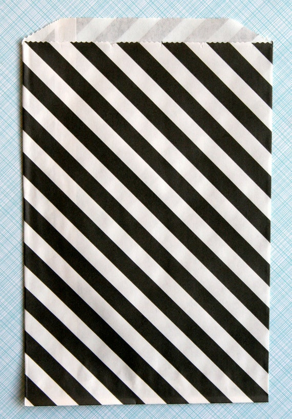 Black Striped Goody Bags (20)
