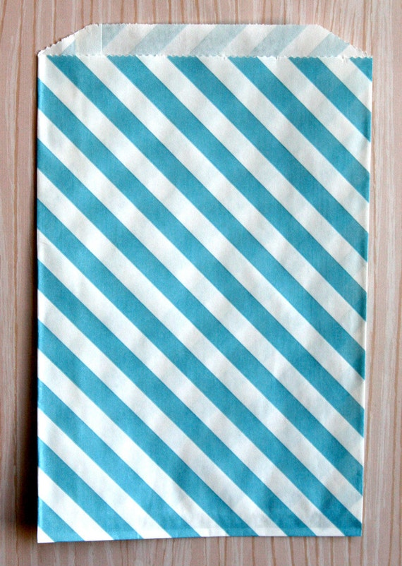 Blue Striped Goody Bags (20)