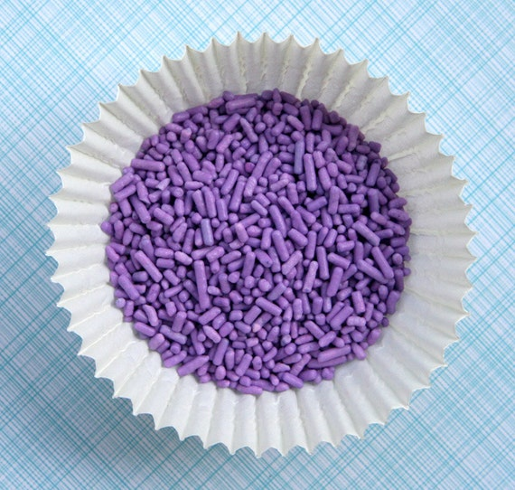 Lavender Sprinkles for Decorating Cupcakes and Cookies (4 ounces)