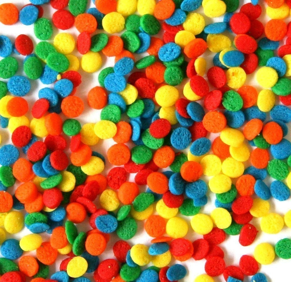 Rainbow Confetti Sprinkles For Decorating Cupcakes And Cookies