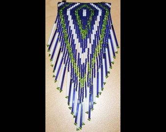 Seattle Seahawks Beaded Barrette