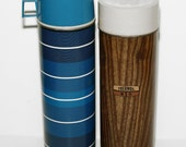 Pair of Vintage, Thermos Containers, Great for Display in a Retro Themed Kitchen