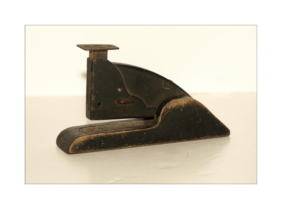 Antique Stapler, Mostly Made of Wood, Terrific Old Office Supply, Wonderful Find, Great for Office Decor or a Bookshelf