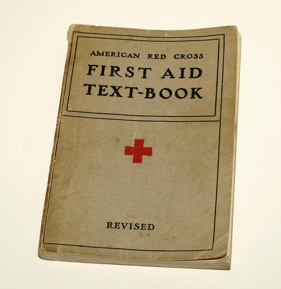 Red Cross First Aid Book, 1940, Full of Great Illustrations, Great Gift for Medical Professional - SHIPPING INCLUDED within continental US