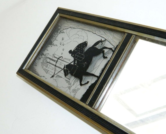 Vintage, Silhouette Image, Long, Hall Mirror, Medieval Knight, Excalibur - FREE SHIPPING within the continental US