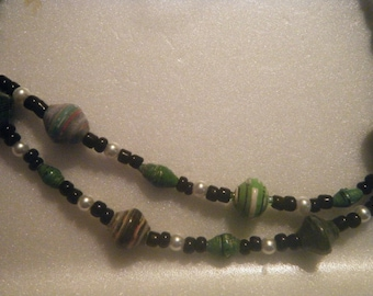 Ugandan Hand-rolled Paper Bead Necklace