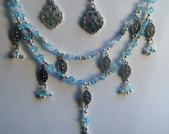 Swarovski Filigree necklace and earrings