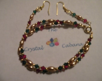 Holiday Bracelet and earrings
