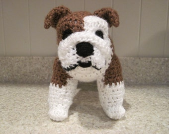 Bulldog Stuffed Animal Crochet Pattern - Digital Download - ENGLISH ONLY