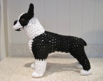 Boston Terrier Crochet Pattern - Digital Download - ENGLISH ONLY