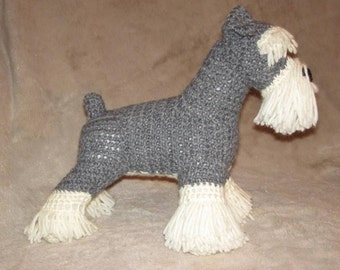 Schnauzer PDF Crochet Pattern - Digital Download - ENGLISH ONLY