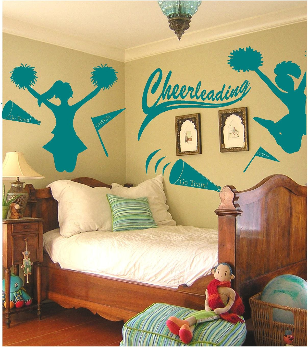Cheerleading wall decals set cheerleading by for Cheerleader wall mural