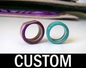 Handmade Custom Recycled Skateboard Ring