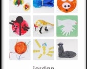 Custom Children's Artwork Collage-9 Square