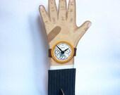Handpainted wooden Clock Hand -- Mr Sloane