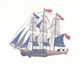 Fine art print -- Woman as Ship