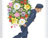 Greeting Card -- Man of Flowers