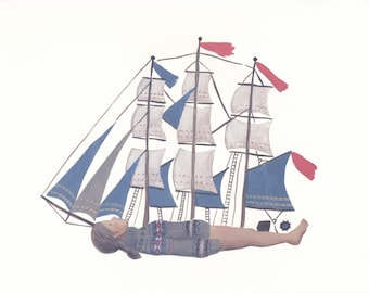 Fine art print -- Woman as Ship