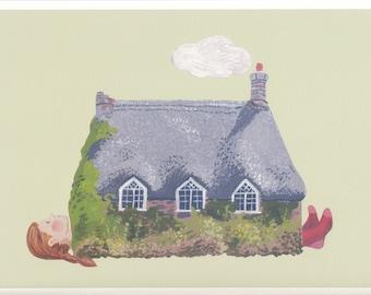Fine art print -- Woman as House II