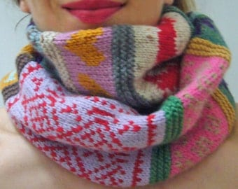 Knitting PATTERN - Confetti Rags to Riches Scarf - Knitting PATTERN