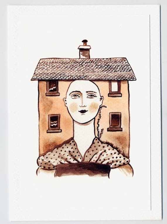 SALE - LAST ONE - Greeting card - Lady is the House