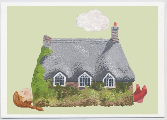 Greeting card - Woman as House