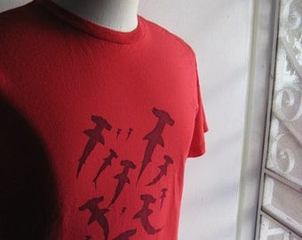 Red Hammerhead Sharks T Shirt