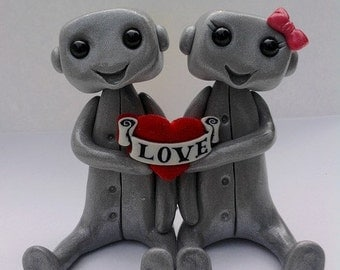 LOVE Robot Cake Topper