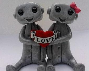 LOVE Robot Cake Topper