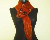 felt mink shawl, felt scarf, eco frendly, felt eco fashion