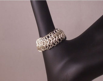 Argentium Silver Chainmaille Ring