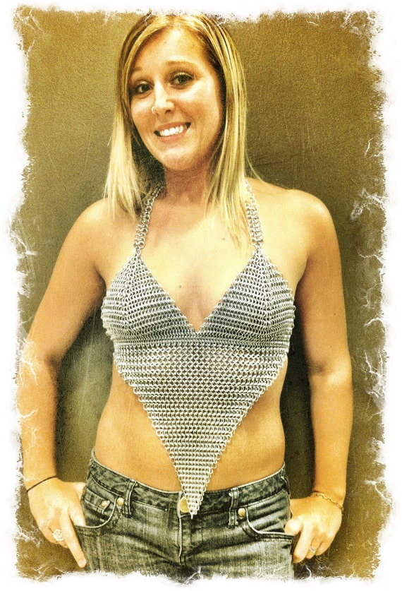 The Triangle Top - Chainmaille Halter Top - NEW LOWER PRICE!