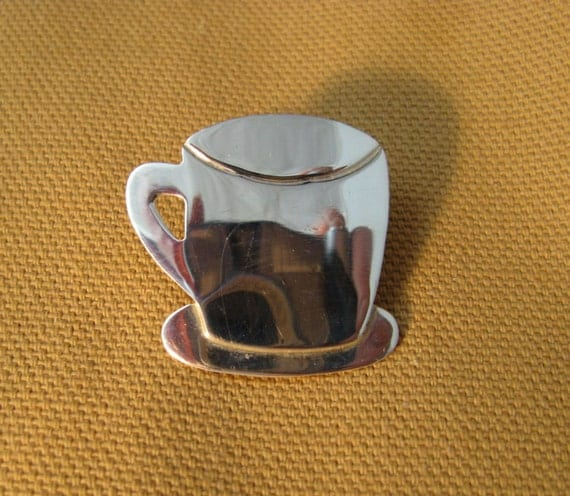 Silver Taxco Coffee Cup Tie Tack ON SALE