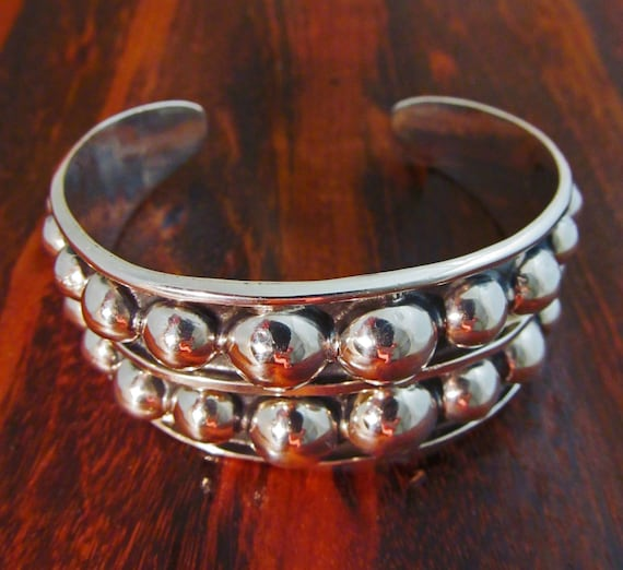 Taxco Silver Bracelet Cuff